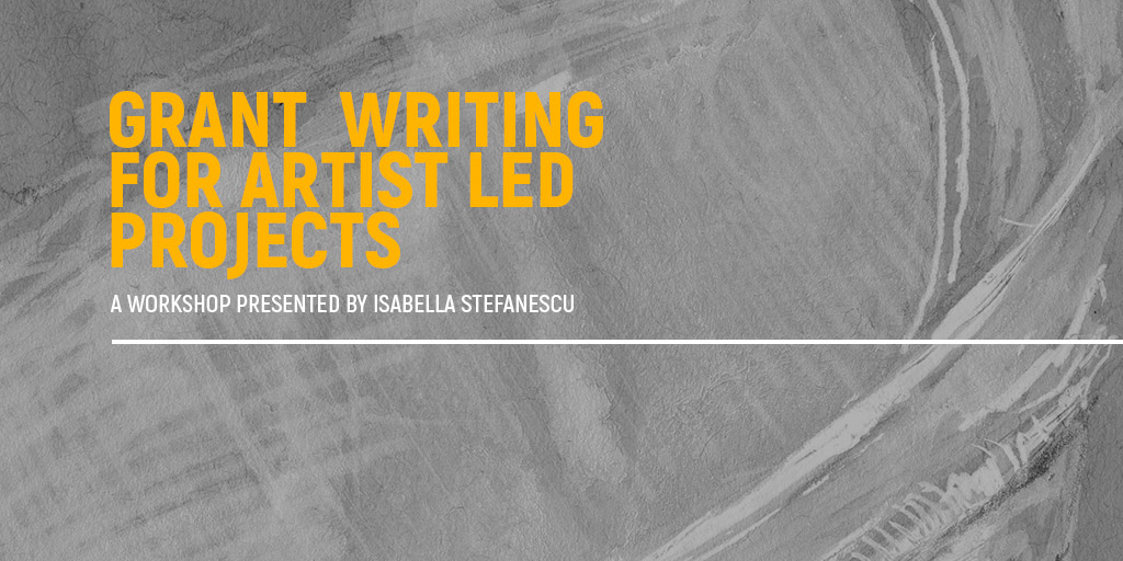 Grant Writing for Artist Led Projects